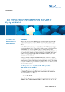 Total Market Return for Determining the Cost of Equity at RIIO-2