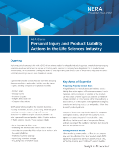 Personal Injury and Product Liability Actions in the Life Sciences Industry