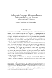 An Economic Assessment of Contracts  in International Arbitration