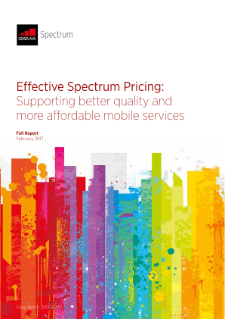 Effective Spectrum Pricing: Supporting Better Quality and More Affordable Mobile Services