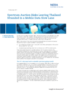 NERA Consultants Comment on Spectrum Auction Risks Leaving Thailand Stranded in a Mobile Data Slow Lane