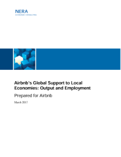 Airbnb's Global Support to Local Economies: Output and Employment