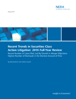 Recent Trends in Securities Class Action Litigation: 2016 Full-Year Review