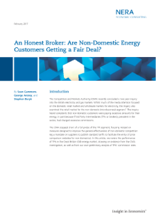An Honest Broker: Are Non-Domestic Energy Customers Getting a Fair Deal?
