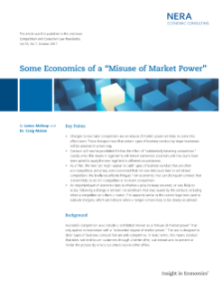 "Some Economics of a ""Misuse of Market Power"""