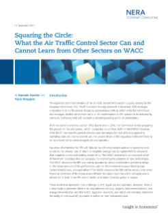 Squaring the Circle: What the Air Traffic Control Sector Can and Cannot Learn from Other Sectors on WACC
