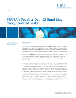 PDVSA's Peculiar Oct. '22 Bond May Carry Elevated Risks