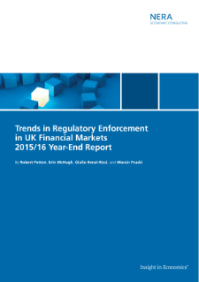 Trends in Regulatory Enforcement in UK Financial Markets 2015/16 Year-End Report