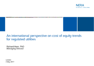 The Cost of Equity for Utilities – An International Perspective