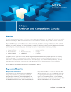 Antitrust and Competition: Canada