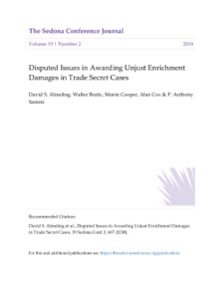 Disputed Issues in Awarding Unjust Enrichment Damages in Trade Secret Cases