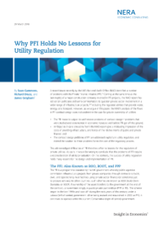 Why PFI Holds No Lessons for Utility Regulation