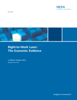 NERA Economist Comments on the Economic Evidence Supporting Right-to-Work Laws