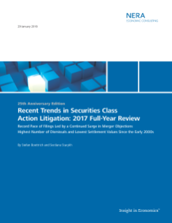 Recent Trends in Securities Class Action Litigation: 2017 Full-Year Review