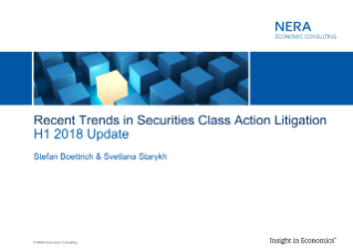 Recent Trends in Securities Class Action Litigation: H1 2018 Update