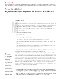 Regression Analysis Explained for Antitrust Practitioners