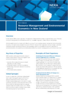 Resource Management and Environmental Economics in New Zealand At A Glance