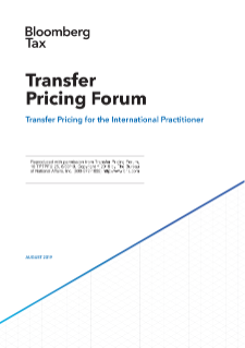 NERA Contributes to Bloomberg Tax Summer 2019 Transfer Pricing Forum