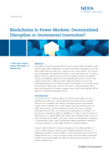 Blockchains in Power Markets: Decentralized Disruption or Incremental Innovation?