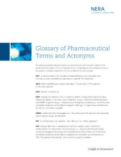 Glossary of Pharmaceutical Terms and Acronyms