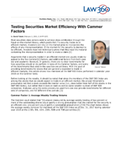 Testing Securities Market Efficiency with Cammer Factors