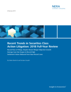 Recent Trends in Securities Class Action Litigation: 2018 Full-Year Review