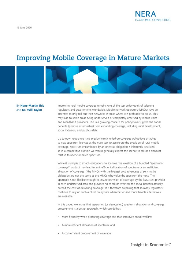 Improving Mobile Coverage in Mature Markets