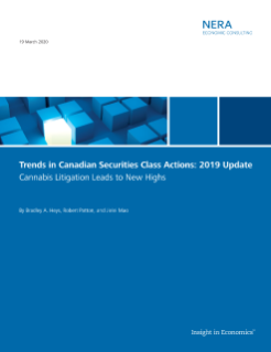 Trends in Canadian Securities Class Actions: 2019 Update