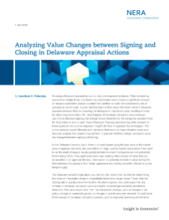 Analyzing Value Changes between Signing and Closing in Delaware Appraisal Actions
