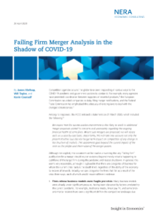 Failing Firm Merger Analysis in the Shadow of COVID-19