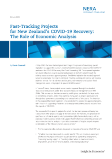 Fast-Tracking Projects for New Zealand's COVID-19 Recovery: The Role of Economic Analysis