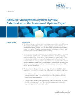 Resource Management System Review: Submission on the Issues and Options Paper