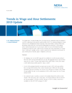 Trends in Wage and Hour Settlements: 2019 Update