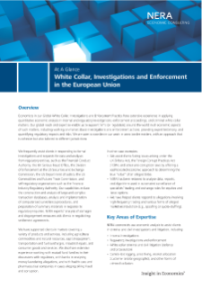 White Collar, Investigations and Enforcement in the European Union