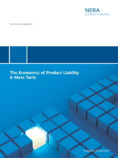 The Economics of Product Liability & Mass Torts