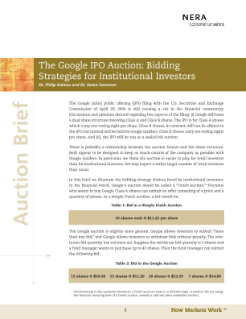 The Google IPO Auction: Bidding Strategies for Institutional Investors