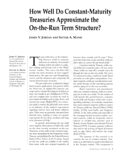 How Well Do Constant-Maturity Treasuries Approximate the On-the-Run Term Structure