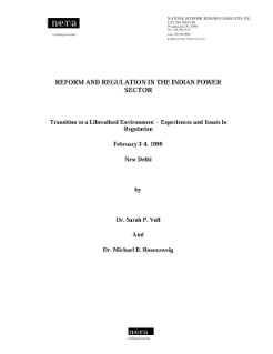 Reform and Regulation in the Indian Power Sector
