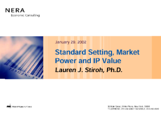 Standard Setting, Market Power and IP Value