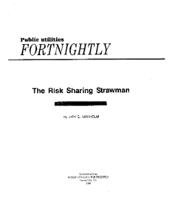 The Risk Sharing Strawman
