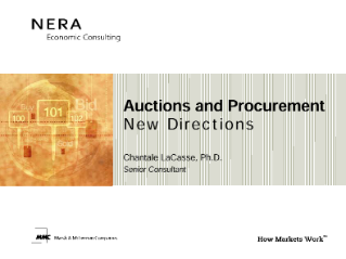 Auctions and Procurement: New Directions