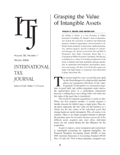 Grasping the Value of Intangible Assets: An Economic Approach to SFAS Nos. 141 and 142