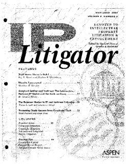 The Relevant Market in IP and Antitrust Litigation