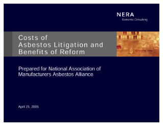 Costs of Asbestos Litigation and Benefits of Reform