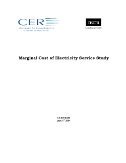 Marginal Cost of Electricity Service Study