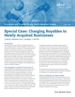 Special Case: Charging Royalties to Newly Acquired Businesses