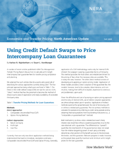 Using Credit Default Swaps to Price Intercompany Loan Guarantees