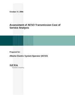 Assessment of AESO Transmission Cost of Service Analysis