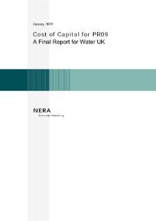 Cost of Capital for PR09: Final Report for Water UK