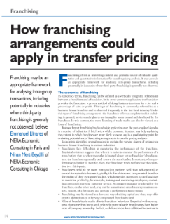 How Franchising Arrangements Could Apply in Transfer Pricing